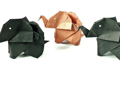How to make an origami elephant easy step by step_paper elephant