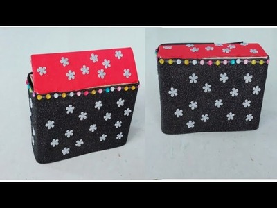 How to make bangal box   best use of waist cover    craft for you    home made craft