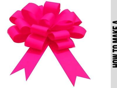 How to Make  Easy Paper Bow  Step by Step  ???? Papierowa Kokarda ???? DIY Easy paper bow gift wrap