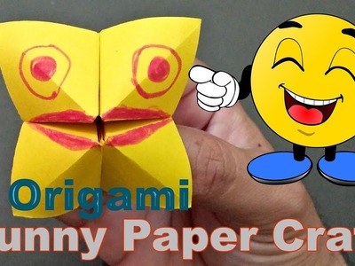 How to make funny face paper craft for kids, Origami craft tutorial | Q&S TUBE