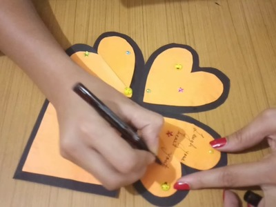 How to make heart pop up card