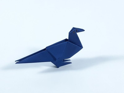 How to make origami pigeon from paper easily_paper pigeon