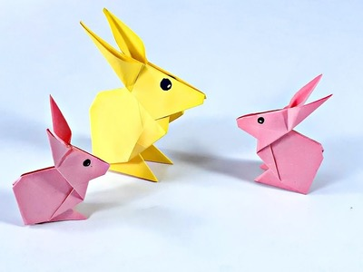 How to make origami rabbit easy step by step_paper rabbit