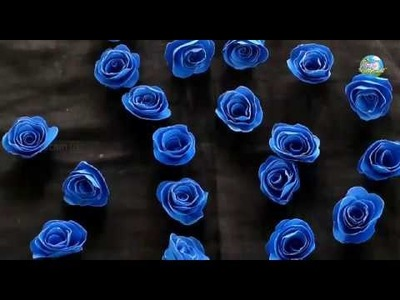 How To Make Paper Rose Flowers | Paper Flowers Making By Suchi Planet