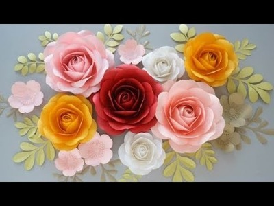 Easy How To Make A Paper Flower Paper Flower Diy Big Paper