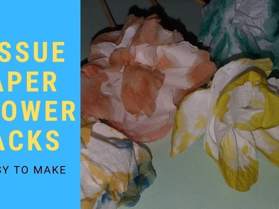 How to Make Small Tissue Paper Flower - Simple tutorial for how to make tiny tissue paper flowers