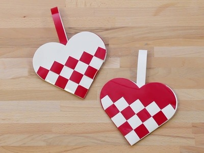 How to weave Christmas hearts
