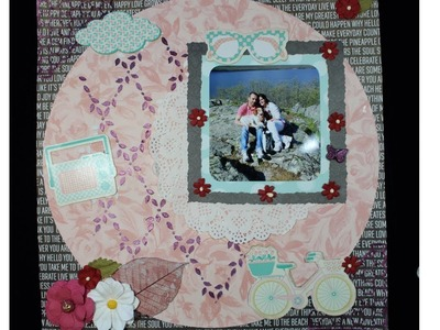 "LAYOUT TUTORIAL SCRAPBOOKING- ""LOVE NOW"""
