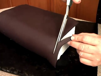 Learn How to Make School Books Graduation Cake Decorating Video Tutorial Pt 3