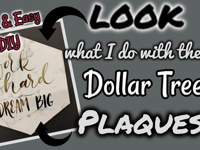 LOOK what I do with these Dollar Tree PLAQUES | QUICK & EASY DIY