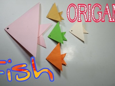 ORIGAMI Fish . How to make an easy paper Fish