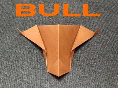 ORIGAMI PAPER BULL. How to make a paper Bull.