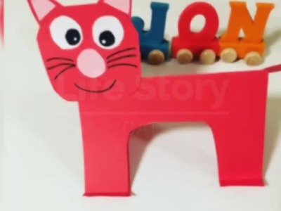 Paper craft for kids ❤️ paper crafts ❤️ easy ceafting ❤️ CAT ❤️