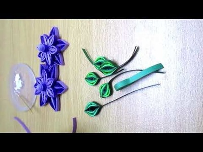 Paper quilling flower card.How to make easy greetings card. Quilling card