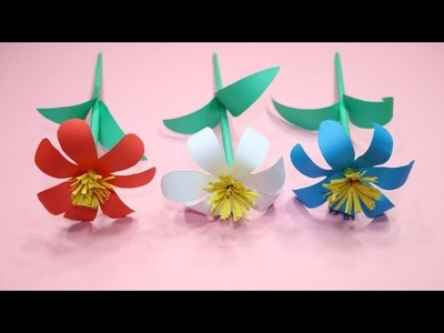 Stick Flower | How to Create a Flower Using Paper | Different Types of Flowers with Paper | DIY