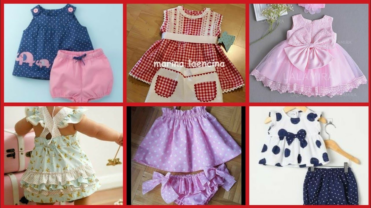 Stylish 1 month to 1 year Baby Dresses