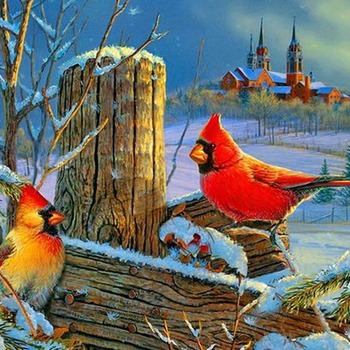 CRAFTS Winter Cardinals Cross Stitch Pattern***L@@K***Buyers Can Download Your Pattern As Soon As They Complete The Purchase