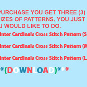 Unique Hand Made pdf Sewing Dmc Crafts Winter Cardinals Cross Stitch Pattern***L@@K***