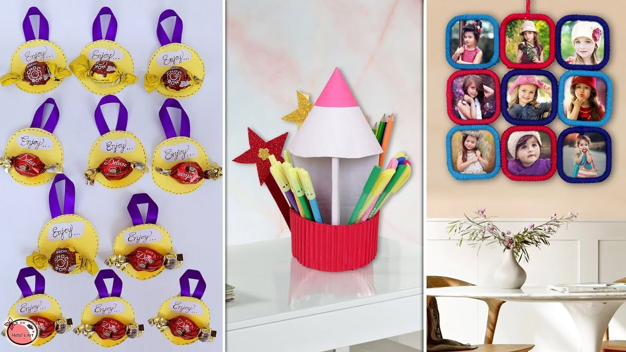 10 Cute & Creative DIY Kids Craft And Chocolate Idea !!!