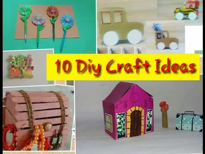 10 Easy and Useful. . .Diy Craft Ideas For kids | Best out of waste