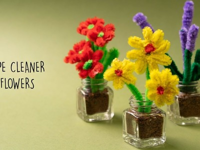 3 Easy Flowers using Pipe Cleaners | Pipe Cleaner Craft