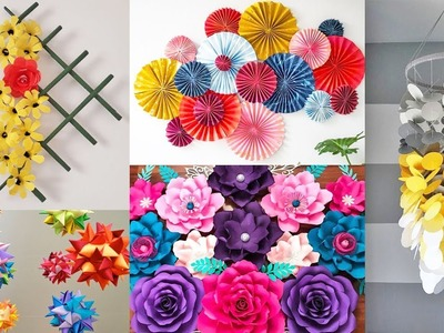 5  Easy paper craft for home decorating idea   Home decorating ideas   Paper Craft