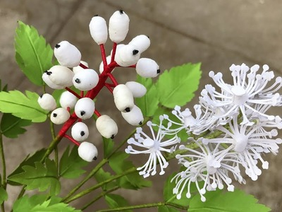 ABC TV | How To Make Baneberry Branch Paper | Flower Die Cuts - Craft Tutorial