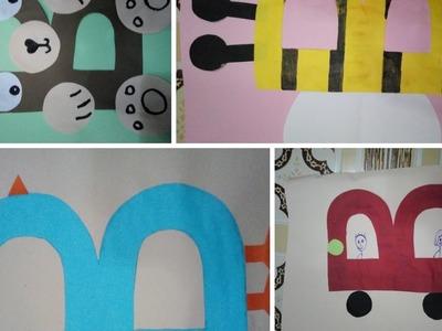 Alphabet art and craft | kids art and craft (B) | Sana ishaque khan