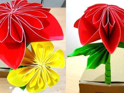 Amazing Paper Flower Craft | Paper Flower Craft In 5 Minutes | #DIY Crafts