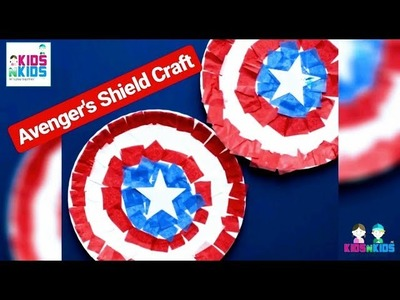 Avengers Craft For Kids | Fast And Easy Way To Make Captain America Shield | By Kidsnkids