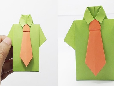 Awesome crafty tie and shirt   Paper craft shirt and tie   Easy paper craft shirt   Diy shirt & tie