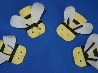 Bee Paper Craft For Kids | easy paper Bee Papercraft ideas step by step