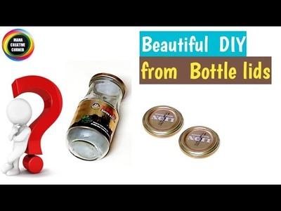 #Best out of waste glass jar lids craft idea#DIY Flower Basket from waste glass jar lid# Home decor