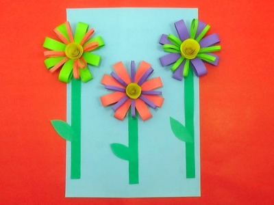 Best Summer Flower Paper Craft for Kids Room Decoration - DIY Spring Crafts Ideas