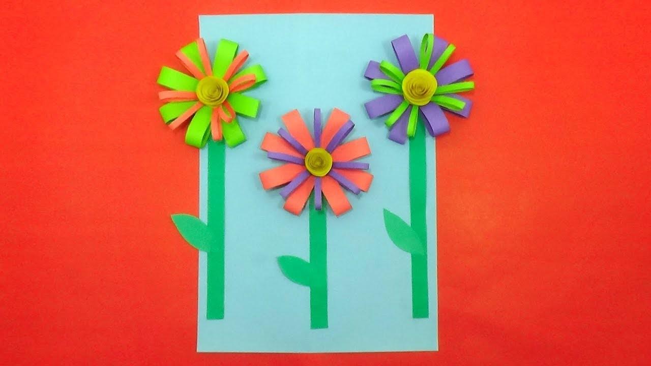 Best Summer Flower Paper Craft for Kids Room Decoration - DIY Spring Crafts Ideas