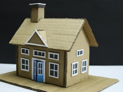 Cardboard House Making with Dimension -Easy Craft