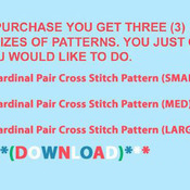 CRAFTS Cardinal Pair Cross Stitch Pattern***LOOK***Buyers Can Download Your Pattern As Soon As They Complete The Purchase