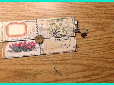 """Craft with Me!  Making a simple """"Tag-Folio"""""""