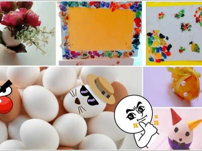 DIY 5 amazing egg craft ideas | egg shell craft for kids|