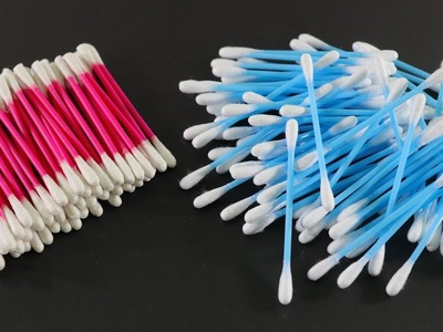 Diy Arts and Crafts With Cotton Buds ! Waste Materials craft Ideas ! Cotton Buds Idea !