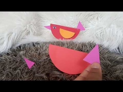 DIY  Craft #kids #easycraft #paper paper craft spring birds #art #crafts #colours #rainbow #painting