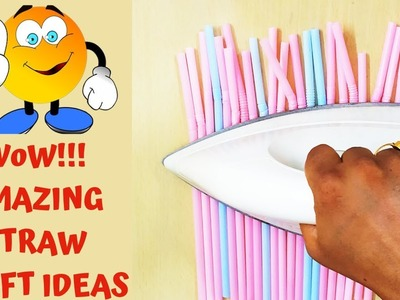 DIY Drinking Straw Craft Ideas|Amazing Straw Hacks And Craft|Beautiful Wall Hanging from Straw