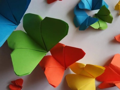 DIY: Easy craft Paper Butterfly Origami: How to make paper butterflies