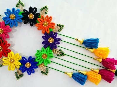DIY Hair Band Wall Hanging | Best Out Of Waste Hair Band Craft For Home Decor