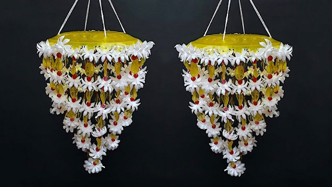 DIY Jhumar.Chandelier.Door hanging craft idea|DIY Wind Chime|room decoration idea