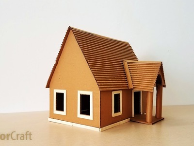 DIY Make A Beautiful House From Cardboard Step By Step - Creator Craft