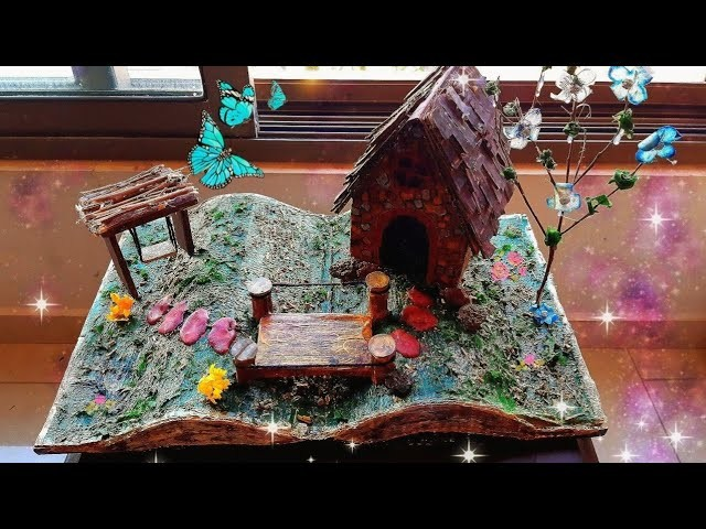 DIY MINIATURE CRAFT| FAIRY GARDEN BOOK | ROOM DECOR IDEA| BEST OUT OF WASTE: