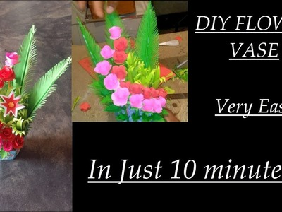 DIY Paper Flower Vase and Flower || Easy DIY || Paper Craft || Inspiration paindu crafts