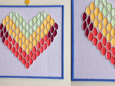 DIY Paper Heart Wall Hanging - Easy Wall Decoration Ideas    Paper craft