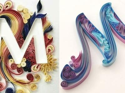 DIY Paper Quilling Letter Art   Letter M   Part 13   Craft Ideas